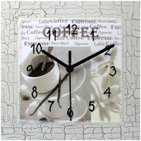 Nástěnné hodiny káva