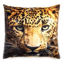 Poszewka na poduszkę pluszowa Leopard, 40 x 40 cm