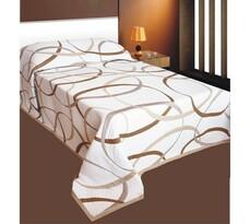 Přehoz na postel May hnědý, 240 x 260 cm