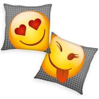 Polštářek Emot!x Heart, 40 x 40 cm