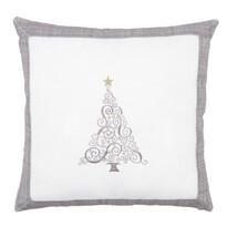 Povlak na polštářek Vánoční stromek Ornament šedá, 40 x 40 cm