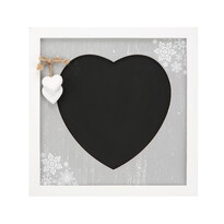 Tablă decorativă Love Winter 30 x 30 cmgri,
