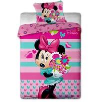 Detské bavlnené obliečky Minnie flower, 140 x 200 cm, 70 x 90 cm