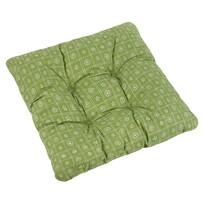 Pernă scaun Adela Pătrate verde, 38 x 38 cm
