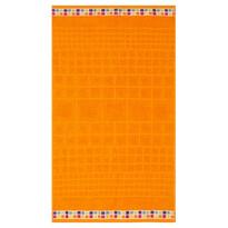 Mozaik fürdőlepedő narancssárga