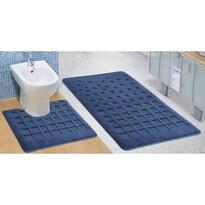 Sada kúpeľňových predložiek Standard Dlaždica modrá, 80 x 50 cm, 50 x 40 cm