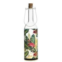 LED fľaša Flamingo zelená, 30 cm