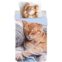 Bavlnené obliečky Mačiatko klbko, 140 x 200 cm, 70 x 90 cm