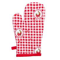 Rękawica kuchenna Country kratka czerwony, 17 x 27 cm