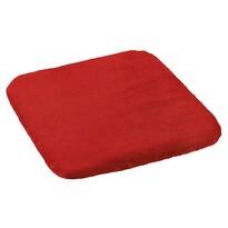 Pernă scaun Korall micro, roșu, 40 x 40 cm