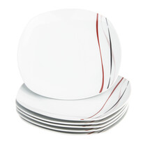 Domestic 6dílná sada mělkých talířů Amelie, 25 cm