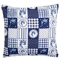 Povlak na polštářek Elegant patchwork modrá, 40 x 40 cm
