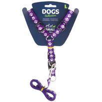 Vodítko pre psa s popruhmi, fialová