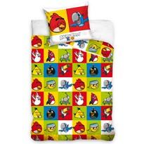 Detské bavlnené obliečky Angry Birds Šachovnica, 140 x 200 cm, 70 x 80 cm