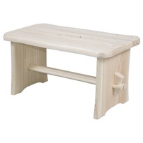 Stołek drewniany, beżowy