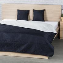 4Home Prehoz na posteľ Doubleface modrá/krémová, 220 x 240 cm, 2 ks 40 x 40 cm