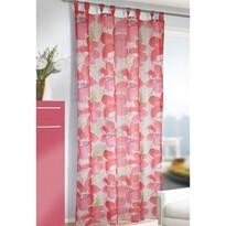 Záclona s poutky Jascha růžová, 135 x 245 cm