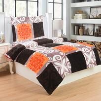 Obliečky mikroplyš Motýľ oranžová, 140 x 200 cm, 70 x 90 cm