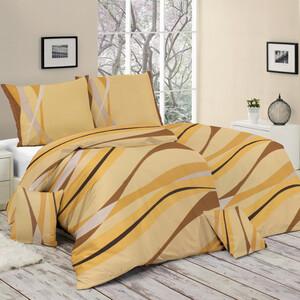Bavlněné povlečení Verano oranžová, 140 x 200 cm, 70 x 90 cm