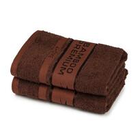 4Home Bamboo Premium ręczniki ciemnobrązowy, 50 x 100 cm, 2 szt.
