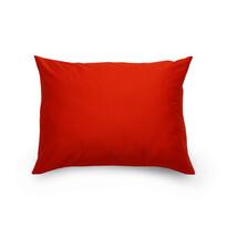 Obliečka na vankúš satén červená / smetanová, 70 x 90 cm