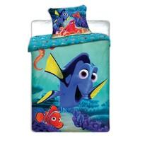 Detské bavlnené obliečky Dory a Nemo, 140 x 200 cm, 70 x 90 cm