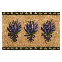 Kokosová rohožka Levanduľa, tmavozelená, 40 x 60 cm