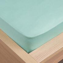 Klasik jersey lepedő menta színű, 180 x 200 cm