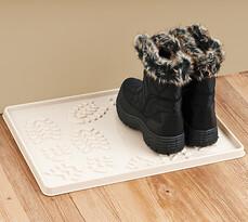 Odkvapkávač na topánky, béžová, 49 x 35 cm