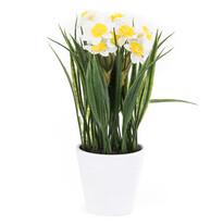 Sztuczny kwiat narcyz biały