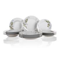 Set de farfurii Banquet Olives, 18 piese