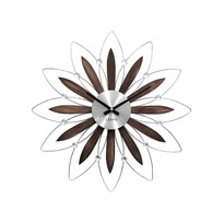 Nástenné hodiny Lavvu Crystal Flower LCT1110 hnedá, 49 cm