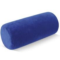 Polštář pod krk Válec mikro modrá, 15 x 35 cm