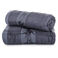 Komplet ręczników bambus Hanoi ciemnoszary