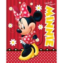 Detská deka Minnie red, 120 x 150 cm