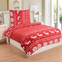 Lenjerie de pat micro-pluş Ren red, 140 x 200 cm, 70 x 90 cm