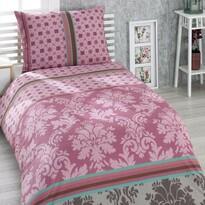 Bavlněné povlečení Damašek růžová, 140 x 200 cm, 70 x 90 cm