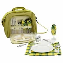 Geantă picnic Cattara, pentru 4 persoane, verde