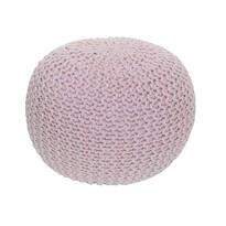 Pletený taburet Gobi 1, růžová