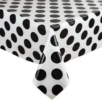 Ubrus Kruhy černá, 130 x 180 cm
