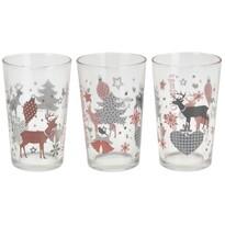3-dielna sada pohárov Christmas, 225 ml