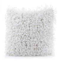Shaggy párnahuzat fehér, 45 x 45 cm