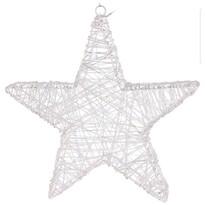 Stea de crăciun Aprilia, din sârmă, argintiu, 30 LED