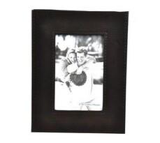 StarDeco fotorámček kožený 10 x 15 cm  tmavo hnedý