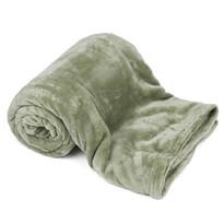 4Home Soft Dreams pléd oliva zöld, 150 x 200 cm