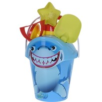 Cápa gyerek strandkészlet kék, 6 db