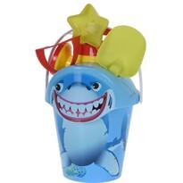 Set jucării de plajă, Rechinul, albastru, 6 buc.