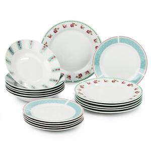 18dílná sada talířů Sweet Home
