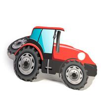 Tvarovaný 3D polštářek Traktor, 25 x 35 cm