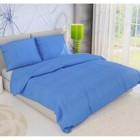 Krepové obliečky modrá, 140 x 220 cm, 70 x 90 cm